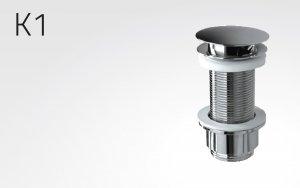 """Ablaufgarnitur, aus Metall, verchromt, ohne Überlauf, (1"""" 1/4 Zoll), permanent geöffnet H70"""