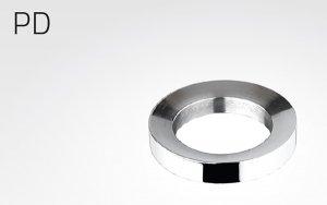 Distanzring, rostfreier Stahl, zur Montage von Glasschalen auf Waschtischplatten